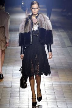 lace, fur and leather…  Lanvin, Fall 2013