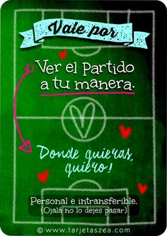 Tarjeta del día del padre-partido de fútbol-Cancha de fútbol con mensajes. © ZEA www.tarjetaszea.com