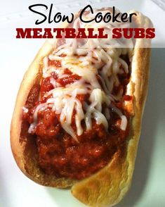 These Slow Cooker Meatball Subs are so delicious, & easy to make. You can use leftovers (if there are any!) to make a yummy meatball pizza the next day!