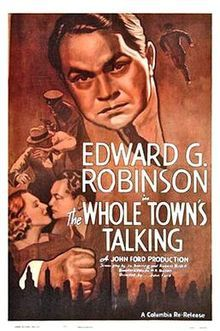 1935:  Jean Arthur and Edward G Robinson in The Whole Towns Talking