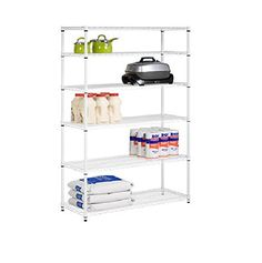 Honey-Can-Do SHF-01910 Adjustable Storage Shelving Unit, ...