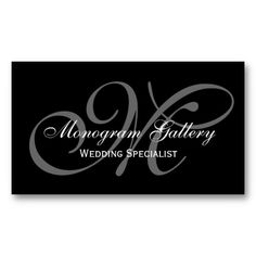 Wedding favor tag black chalkboard charm black chalkboard black grey script monogram wedding business business cards created by monogramgallery this design is available on several paper types and is totally colourmoves