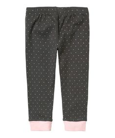 Take a look at this Iron Gray Pin Dot Leggings - Infant by RUUM on #zulily today!