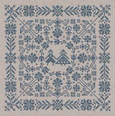 Swedish Folk Cushion Cross Stitch Pattern Instant by modernfolk