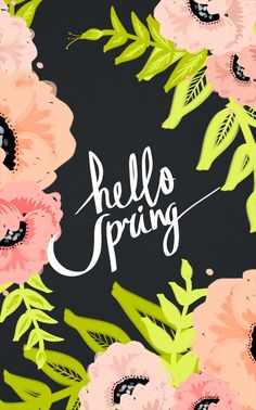 Hello Spring / floral desktop wallpaper from cocorrina