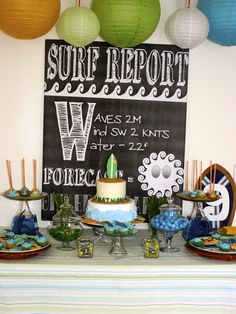Surf's Up Party #surfsup #party