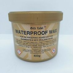 Gold Label Waterproof Wax,Re-proofing All Waxed Cotton Garments Horse Rugs, 400G | eBay Christams Gifts, Horse Rugs, Gold Labels, Wax, Cotton, Laundry