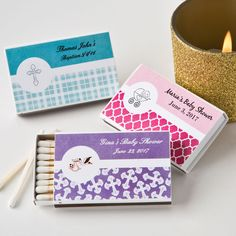 Personalized Matchbox Baby Shower Favors (Pack of Add an elegant personal touch to your next grand affair when you offer each guest a box of matches customized with your own unique message. The two piece match box contains approx 20 wood match s Personalized Baby Shower Favors, Baby Favors, Personalized Labels, Personalized Wedding, Bridal Shower Party, Wedding Party Favors, Baby Shower Parties, Practical Gifts, Shower Gifts