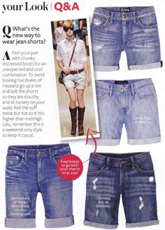 """Adventures in Dressmaking: """"We need to learn to make these shorts!"""" tutorial- i have plenty of jeans for this! Denim Shorts Style, Denim Cutoffs, Jean Shorts, Diy Clothes Refashion, Diy Clothing, Shorts Tutorial, Diy Tutorial, Diy Shorts, Cut Off Jeans"""