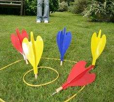 Lawn Darts are back!! Those killers of millions of kids back in the 1980's are once again available. Now you can reenact those days of tossing metal spiked death toys at your friends and family at company Bar-B-Ques. Don't be the last in your neighborhood to get impaled while running down memory lane!
