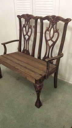 Bank aus alten Stühlen