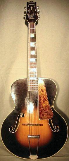 Slingerland New Marvel Archtop Guitar ~ https://www.pinterest.com/lardyfatboy/