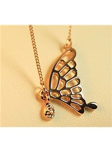 Charming Gold Butterfly Style Fashion Lady's Necklace: tidestore.com