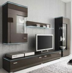 Affordable Wooden Tv Stands Design Ideas With Storage 34 - Tv unit furniture Modern Tv Cabinet, Modern Tv Wall Units, Tv Cabinet Design, Tv Wall Design, Living Room Wall Units, Living Room Tv Unit Designs, Living Rooms, Wall Unit Designs, Tv Stand Designs