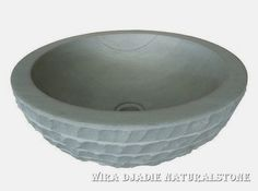 Sink Bowl Outside Alur Marmo Color : Green Sandstone Size: Ø 35 cm X H. 15 cm Ø 40 cm X H. 15 cm Ø 45 cm X H. 15 cm