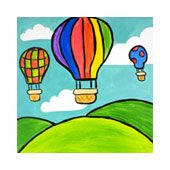 Social Artworking Canvas Designs Scenes from a Balloon Drawing Pictures For Kids, Drawing Lessons For Kids, Easy Drawings For Kids, Cute Drawings, Drawing Ideas Kids, Scenery Drawing For Kids, Crayon Drawings, Oil Pastel Drawings, Painting For Kids