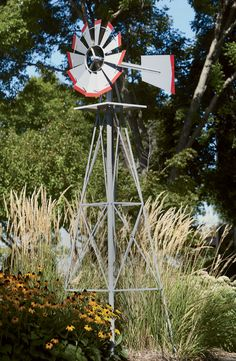 Add a rustic touch to your yard with a 8-Ft. Tall Ornamental Windmill!