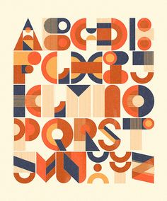 Typography :: Destructo Deco Alphabet - by Richard Perez Typography Alphabet, Typography Love, Typography Poster, Graphic Design Typography, Lettering Design, Graphic Design Illustration, Hand Lettering, Alphabet Letters, Letter Logo