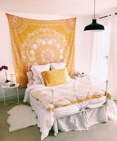 Dream Rooms For Teens Yellow - Decoration Home Dream Rooms, Dream Bedroom, Home Bedroom, Bedroom Inspo, Cute Bedroom Ideas, Bright Bedroom Ideas, Aesthetic Rooms, Aesthetic Yellow, Summer Aesthetic