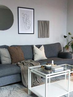 Grey Sofa Design, Gray Sofa, Couch, Living Room, Furniture, Home Decor, Deco, Settee, Decoration Home