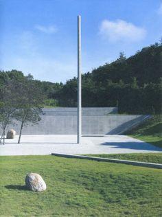 Relatum – Point, Line, Plane  2010 Installation au Musée Lee Ufan à Naoshima
