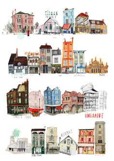 London art by Nina Cosford drawing isometric drawing kindergarten drawing wall Art And Illustration, Building Illustration, London Illustration, Illustrations Posters, Freetime Activities, Buch Design, Kunst Poster, House Drawing, House Sketch