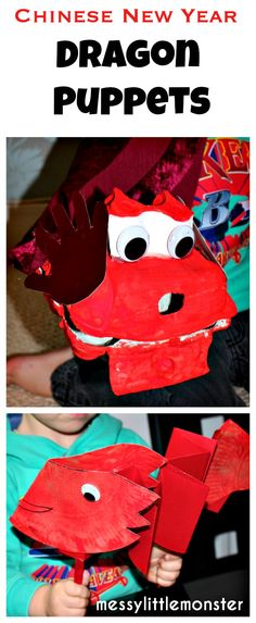 Messy Little Monster: Dragon Puppets: Chinese New Year Craft
