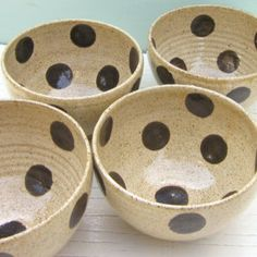 MADE TO ORDER - 4 cereal bowls soup bowls ice cream bowls small pottery ceramic stoneware 5 inches wide