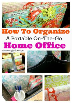 Not always at home to access your important paperwork? Make your own portable on-the-go home office with these tips from orgjunkie.com