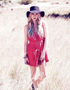 Free Spirited fashion | fashion, field, floppy hat, free spirit, photography - inspiring ...