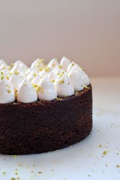 Chocolate Beetroot Cake with Cardamom Rose Swiss Meringue Buttercream and  Pistachios