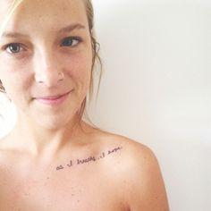 """As I breathe, I hope."" |  Collarbone tattoo"