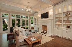 transitional living room spaces | ... cream, beige, tan, and taupe prevail – as seen in this living room
