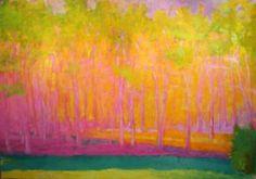 Wolf Kahn  oil on canvas  from Robin's blog