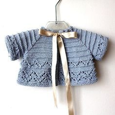 INSTANT DOWNLOAD - Knitting Pattern (pdf file) Baby Cardigan/Shrug (sizes 1/3/6/12/18 months