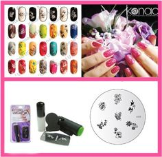 Konad Nail Art Mini Set Polish, Stamper, and Scraper   Image Plate M53 Garden FLowers   A-Viva Nail File * Check out the image by visiting the link.
