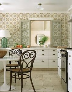 wallpaper in the kitchen