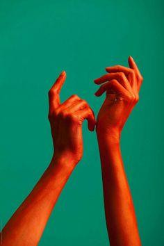 red painted hands of a woman by ulaş kesebir & merve türkan - Stocksy United Orange Aesthetic, Aesthetic Art, Aesthetic Pictures, Hand Reference, Photo Reference, Hand Photography, Portrait Photography, Photography Portfolio, Photography Aesthetic