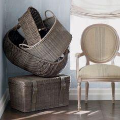 Brown Echo Beach Divided Hamper Wrought Iron Decor Baskets Pinterest Beaches Brown