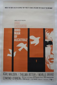 Cinema posters by Saul Bass - Birdman of Alcatraz, 1962 (XIX)