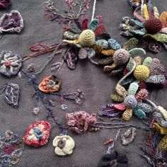 Sophie Digard  Loop has a beautiful selection of exquisite Sophie Digard merino and linen wraps and necklaces. Crocheted, embroidered and sewn these handmade treasures are pure beauty.