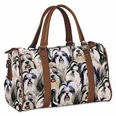 Shih Tzu Constant Companion Tapestry Handbag