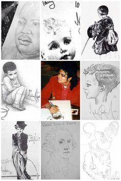 All his art work by Michael Jackson. By the way there are more then 9 art work.