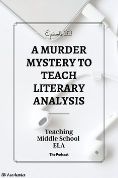 Let's face it. Literary analysis is tough, and pouring your. You are in the right place about Lang Teaching Literature, Teaching Writing, Writing Activities, Teaching English, Teaching Spanish, Middle School Writing, Middle School English, Middle School Classroom, English Classroom