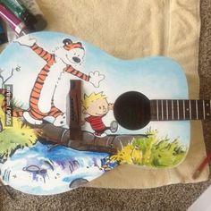 Calvin and Hobbes Guitar