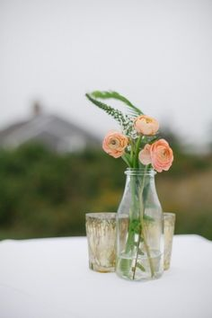 Simple and pretty: http://www.stylemepretty.com/massachusetts-weddings/chatham/2015/05/04/romantic-pastel-cape-cod-wedding/ | Photography: Summer Street - http://summerstreetphotography.com/