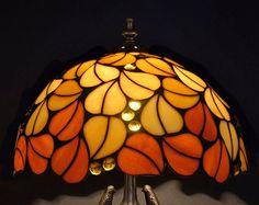 Lámpara de vitral Tiffany. Simple pantalla Tiffany por WPworkshop