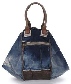 Diesel-Divina-Bag-in-Blue-Denim-&-Leather - Sale! Up to 75% OFF! Shot at Stylizio for women's and men's designer handbags, luxury sunglasses, watches, jewelry, purses, wallets, clothes, underwear & more!