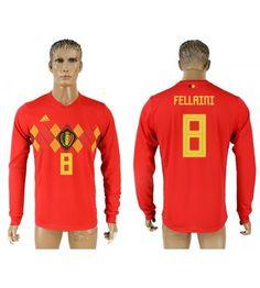 Belgien Marouane Fellaini 8 Heimtrikot WM 2018 Herren Langarm Eden Hazard, Chelsea, Polo Ralph Lauren, Polo Shirt, Sports, Mens Tops, World Cup 2018, Men Wear, Long Dress Patterns