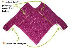 Cómo tejer un poncho con mangas a crochet ☂ᙓᖇᗴᔕᗩ ᖇᙓᔕ☂ᙓᘐᘎᓮ http://www.pinterest.com/teretegui